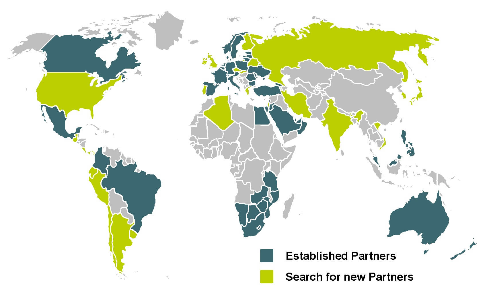 Looking for partners in the following countries